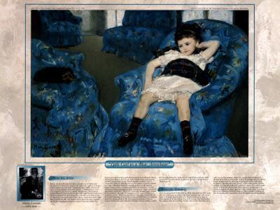 Notable Women Artists - Mary Cassatt - Little Girl in a Blue Armchair