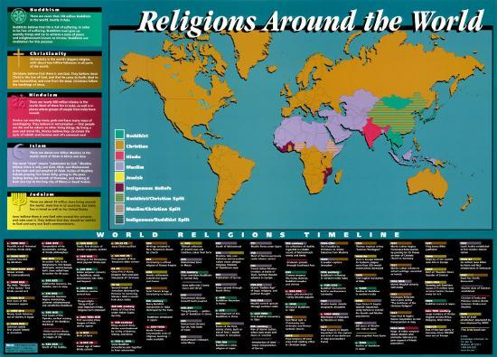 World Religions Map Timeline Prints At Allposters Com