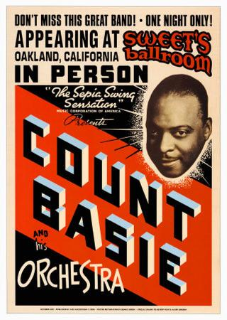 Count Basie Orchestra at Sweet's Ballroom, Oakland, California, 1939