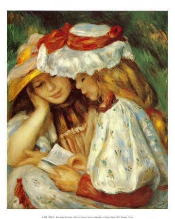 Deux jeunes filles lisant