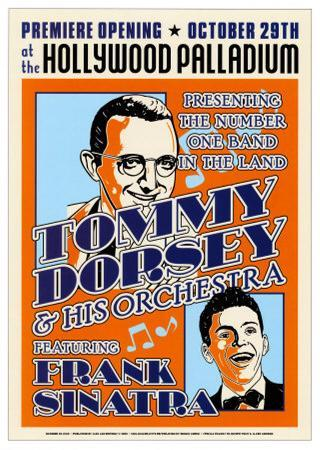 Tommy Dorsey and Frank Sinatra at the Hollywood Palladium, Los Angeles, California, 1940