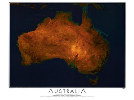 Map Of Australia From Space.Australia From Space C Spaceshots