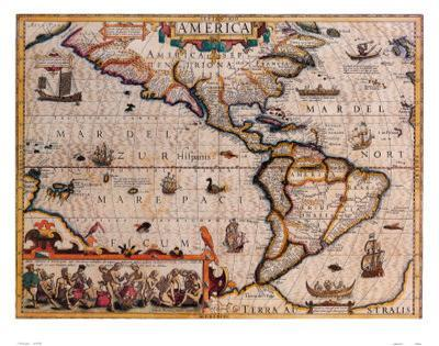 America Antique Map - ©Spaceshots