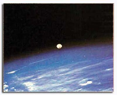 NASA - Earth and Moon on The Horizon  - ©Spaceshots