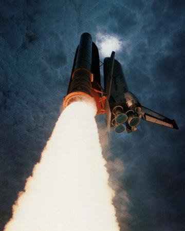 NASA - Columbia Launch Into Clouds  - ©Spaceshots