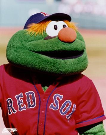 The Green Monster Mascot