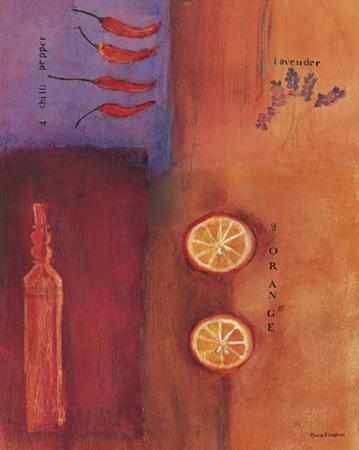 Orange, Lavender and Chili Pepper