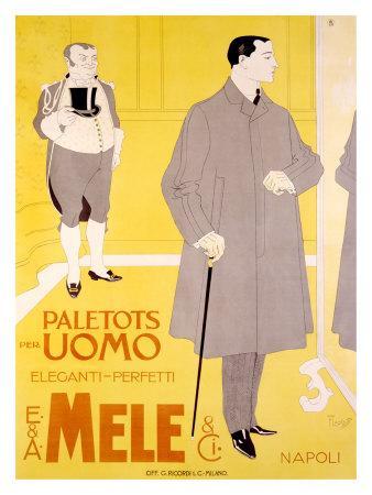 E&A Mele, Paletots Per Uomo