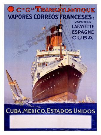Transatlantique, Vapores Correos Franceses