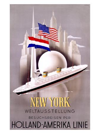 New York to Holland, America Line