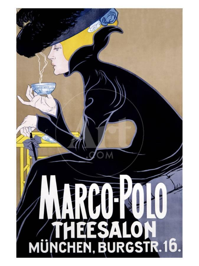Marco Polo Tea Salon Giclee Print at AllPosters.com