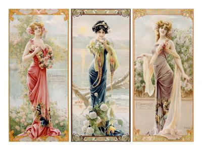 Three Silk Panels