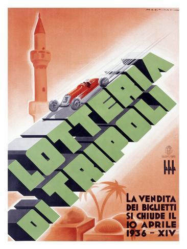 Tripoli Italy Vintage European Art Travel Advertisement Poster Picture Print