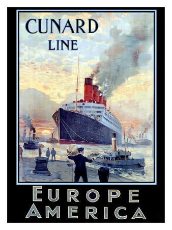 Cunard Line, Europe to America