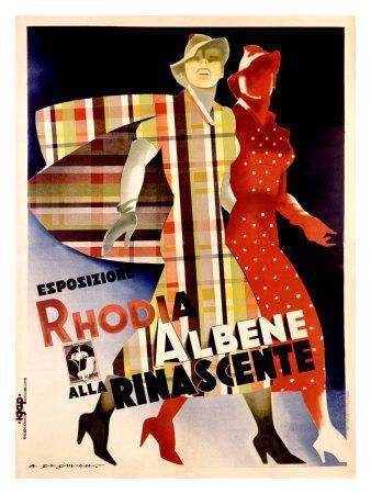 La Rinascente, Esposizione Rhodia Albene