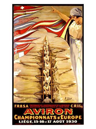 Aviron, 1930