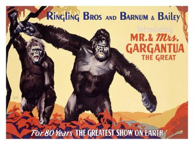 Ringling Brothers: Mr. and Mrs. Gargantua the Great
