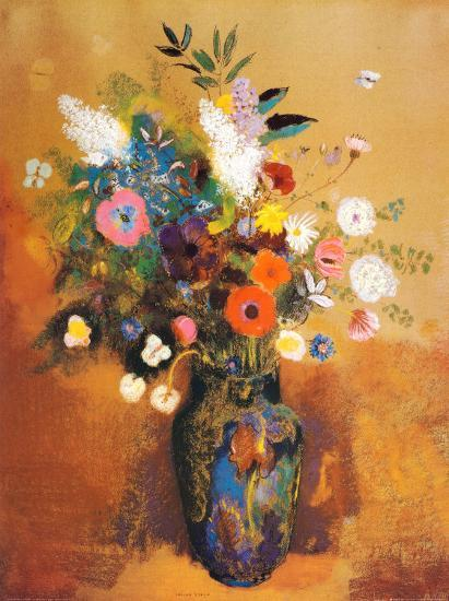 Bouquet Of Flowers Poster By Odilon Redon At Allposters Com