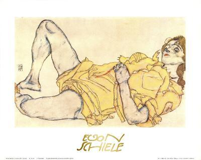 Reclining Woman with Yellow Dress