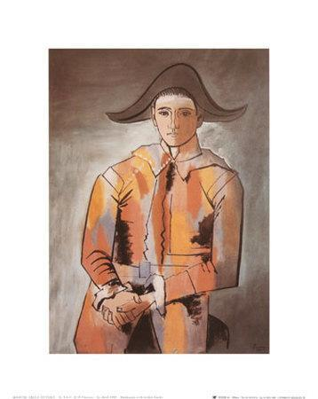 Harlequin with Folded Hands, c.1923