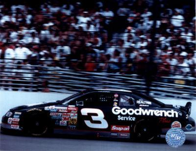 Dale Earnhardt Car On Track - Side View