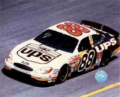 Dale Jarrett Car In Action - Side View