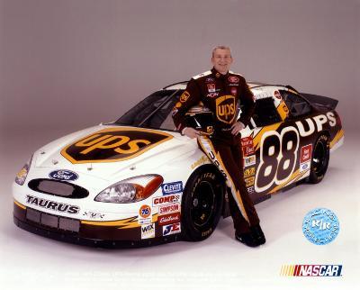 Dale Jarrett Portrait With Car