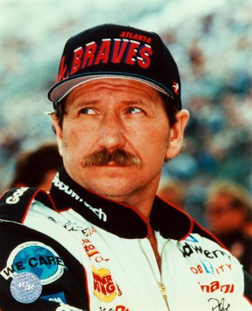 Dale Earnhardt Portrait With Braves Hat