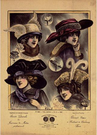 Hats from Expostion Universalle, Paris, 1900