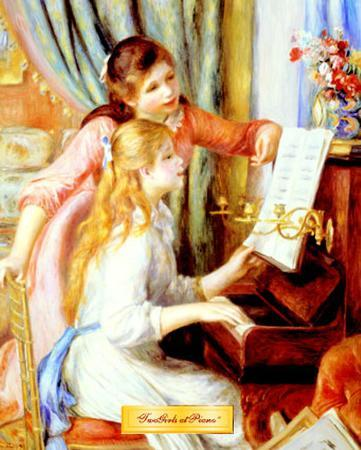 Two Girls at Piano