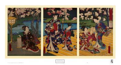 Triptych of Prince Genji