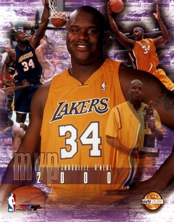 Shaquille O'Neal, Lakers 34  - 2000 MVP