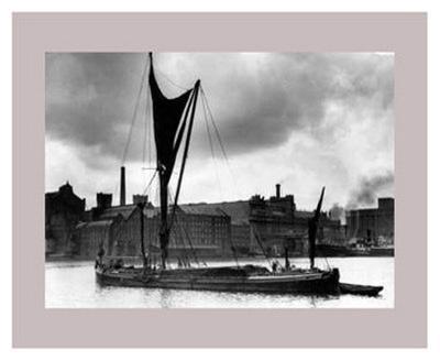 Royal Victoria Docks Docklands London Barge, 1934