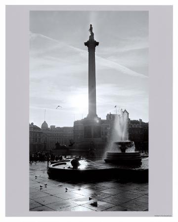 Trafalgar Square at Sunset, London, December 1968