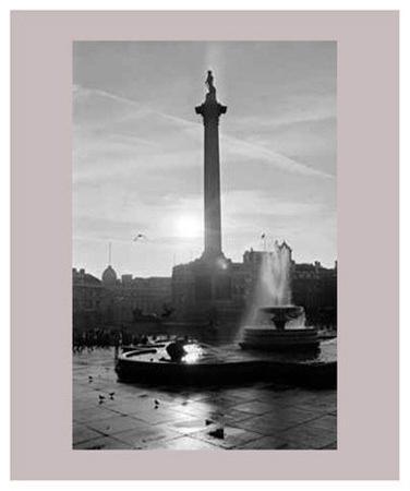 Trafalgar Square at Sunset, London, December 1968