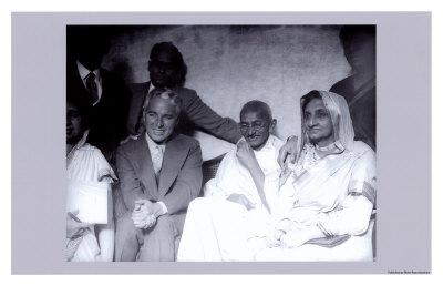 Charlie Chaplin and Ghandi in East London, 23rd of September, 1931