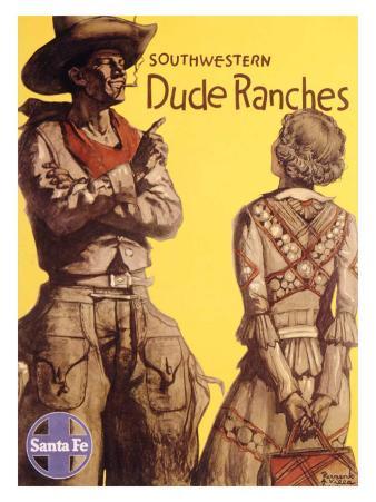 Santa Fe Railroad, Southwestern Dude Ranches
