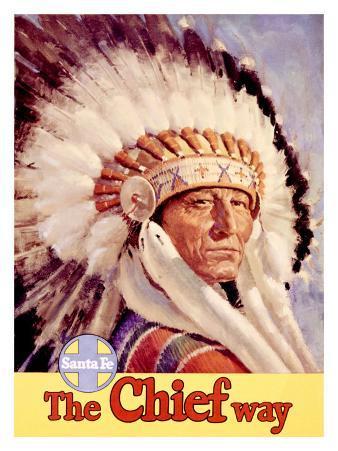 Santa Fe Railroad, Indian Chief, 1955
