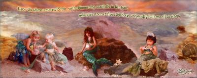 Upon the Shore a Mermaid Fair