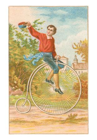Boy on Penny-Farthing