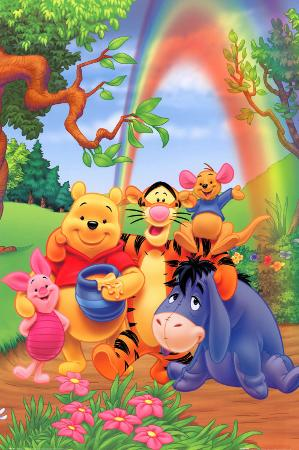 Winnie the Pooh - Group Rainbow