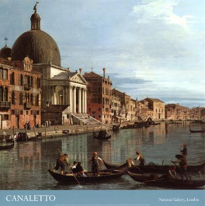 Venice: the Upper Reaches of the Grand Canal with S. Simeone Piccolo, c.1738 (detail)