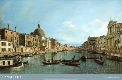 Venice: the Upper Reaches of the Grand Canal with S. Simeone Piccolo, c.1738