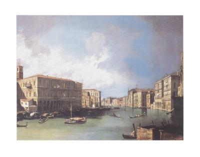 The Grand Canal, Venice, Looking North from Near the Rialto Bridge, c.1726