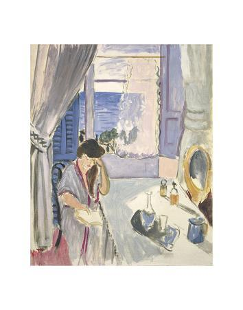 Woman Reading at a Dressing Table, Late 1919