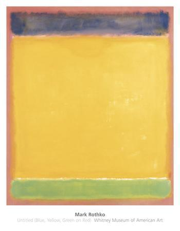 Untitled (Blue, Yellow, Green on Red), 1954
