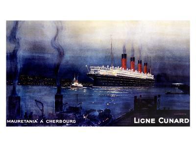 Cunard Line, Mauretania to Cherbourg