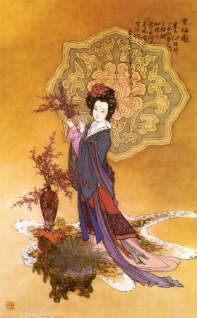 Lady with Plum Flowers