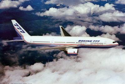 Boeing 777-200 in Flight