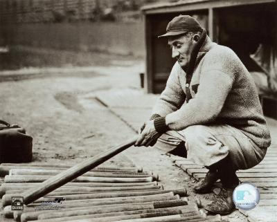 Honus Wagner - In dugout with bats